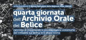 """""""Quarta Giornata dell'archivio orale del Belìce"""" e """"Letterio Consiglio. Memorie. Segni cancellati di una città"""" 15 gennaio 2015"""